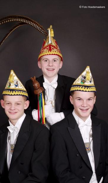 Prins Sam Engelke en zijn adjudanten Siep en Pim.