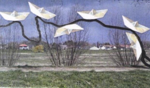 Monument 'Kunst met een Boot-schap' komt aan de Niersdijk in Gennep