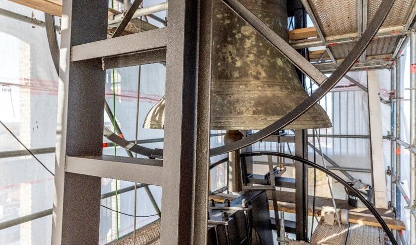 <p>Er is een steiger geplaatst en de klokkenstoel is gereinigd en geschilderd.</p>