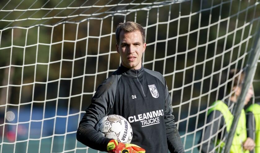 <p>Vitesse-doelman Jeroen Houwen op de training van 4 november.</p>