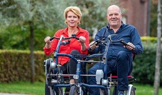 Met een duofiets kunnen ook  mensen met een beperking genieten van een uitje