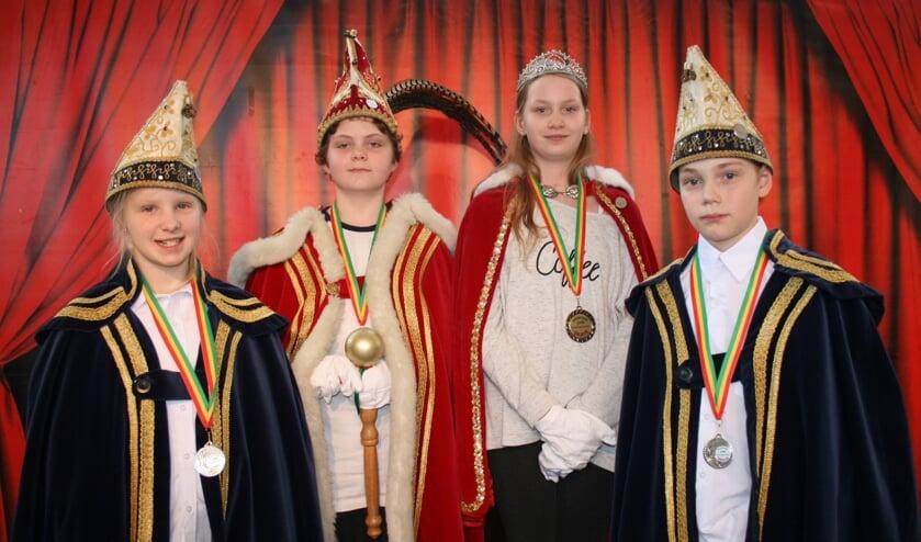 Quint Kruizinga, prinses Skaye Beterams en hun adjudanten Amy Jensz en Gradje Willems.