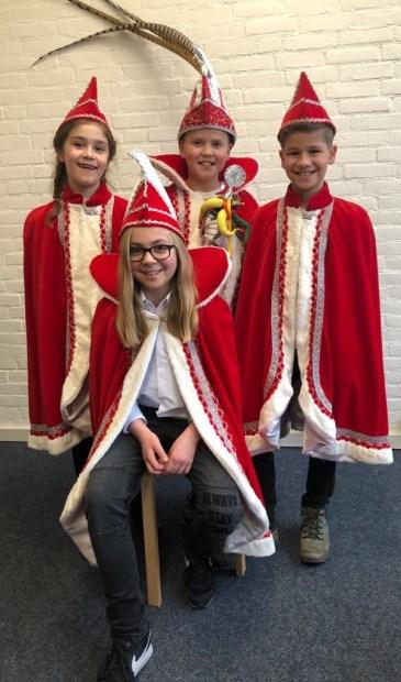 Het prinselijk kwartet van Montessorischool Venray.