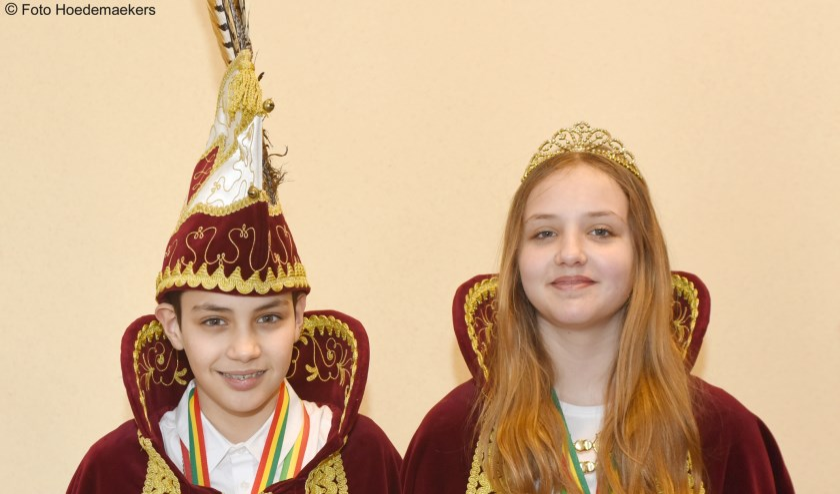 David Cantos Conejo en Denise Plugge prinsenpaar Bruukske Kwaekers.