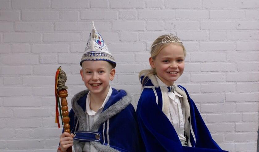 Prins Niek II en prinses Hanne van basisschool EigenWijs.