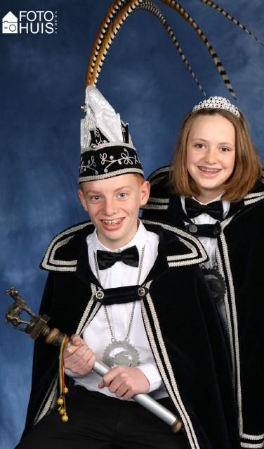 Jeugdprins Gianni en jeugdprinses Marike.