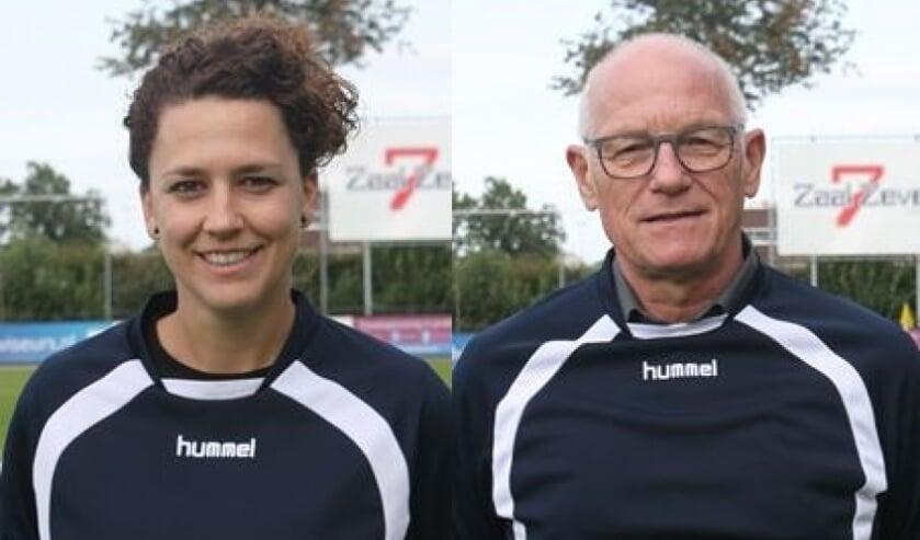 Mandy Passon en Frans Koenen, ook volgend seizoen trainersduo selectie SV Venray.
