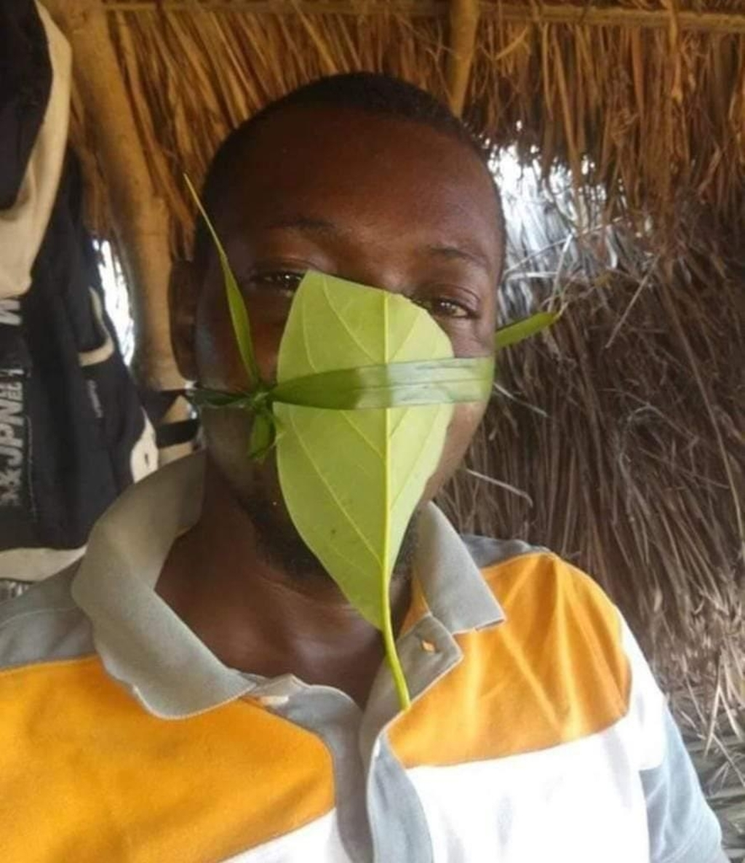Mondmaskers voor Uganda in Afrika
