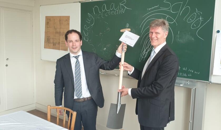 Wethouder Jan Loonen en gedeputeerde Andy Dritty.