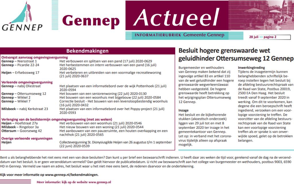 Publicatie's wk 31/2020 Foto: Gemeente Gennep © Maasduinencentraal