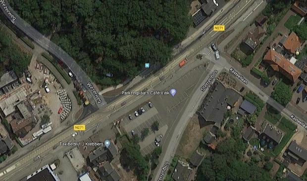 <p>Locatie waar de nieuwe rotonde moet komen</p>
