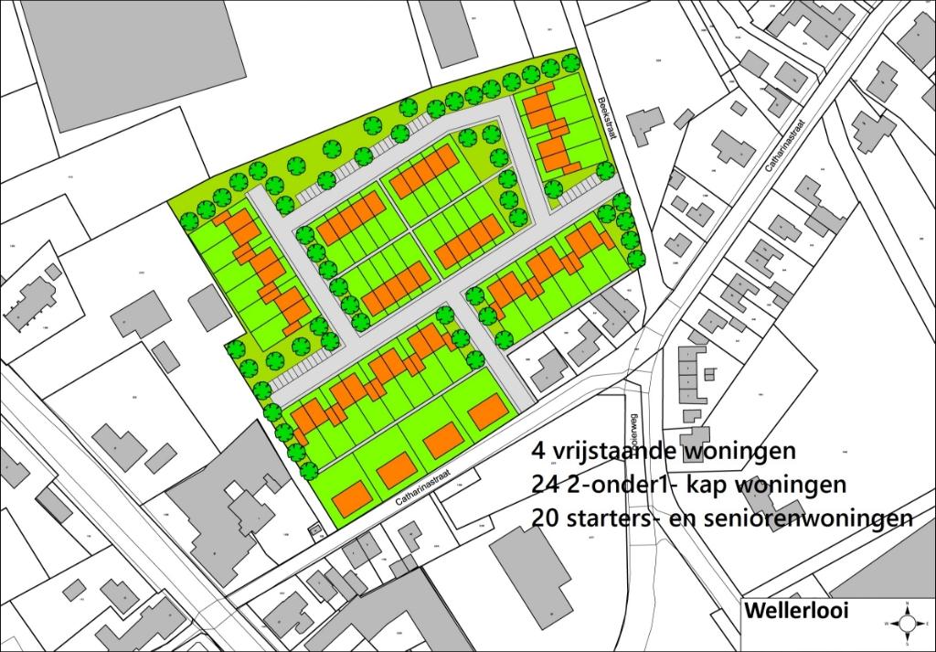 Bouwmogelijkheden Wellerlooi Foto: VVD Bergen © Maasduinencentraal