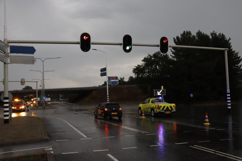 <p>Afsluiting oprit A73....</p> <p>Foto: SK-Media</p> © Peel en Maas Venray