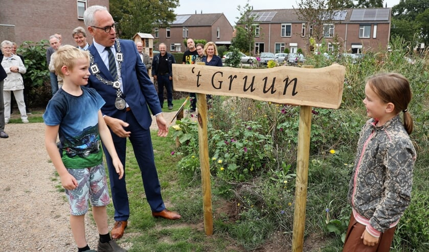 <p>&#39;t Gruun is de naam van het nieuwe parkje.</p>