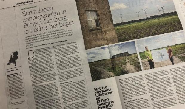NRC: 'Een miljoen zonnepanelen in het Limburgse Bergen is slechts het begin'