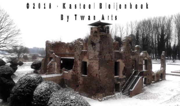 Een winterse impressie van Kasteel Bleijenbeek in Afferden