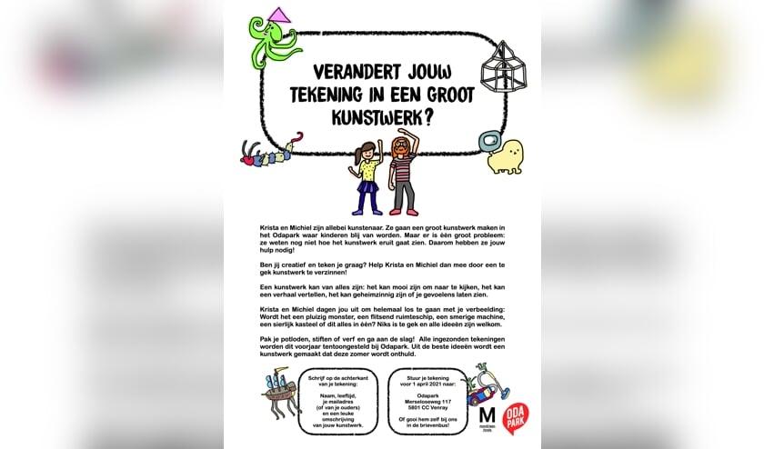 <p>Alle ingezonden kindertekeningen worden vanaf juni tentoongesteld bij Odapark Venray.</p>