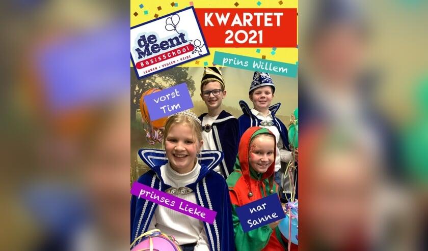 <p>Het kwartet van basisschool De Meent in Leunen.&nbsp;</p>