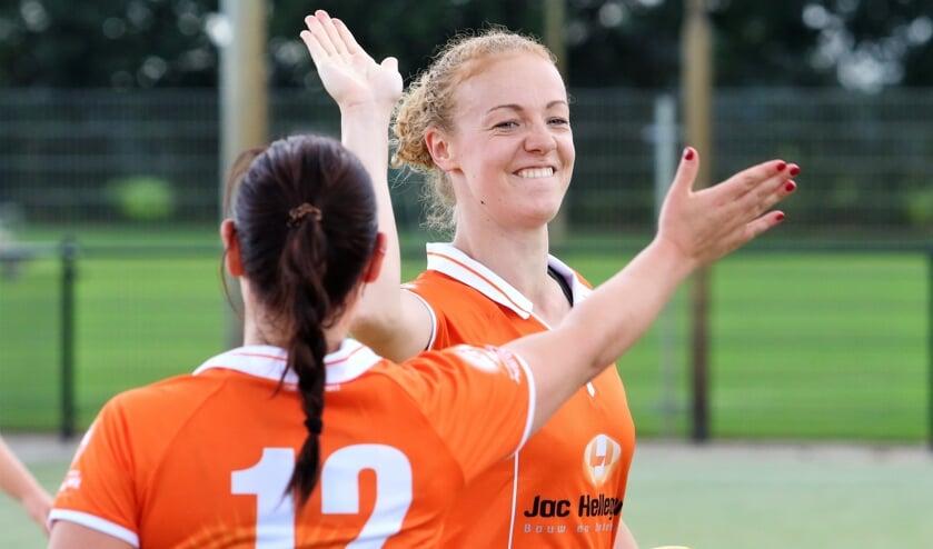 <p>Aniek Bosgoed-Drabbels was jarenlang een boegbeeld van Oranje Wit 1.</p>
