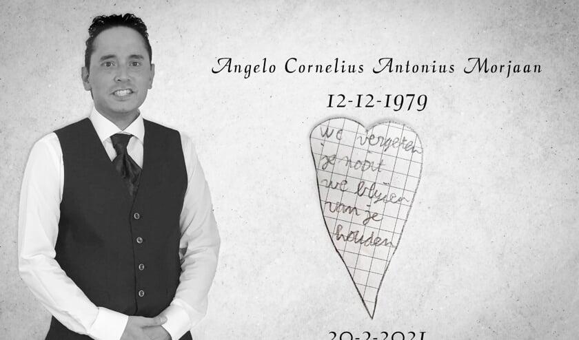 <p>Angelo Morjaan overleed plotseling op 20 maart van dit jaar.</p>