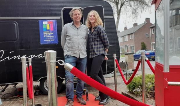 Jan-Willem Lely en zijn dochter Lieve kort voor de première