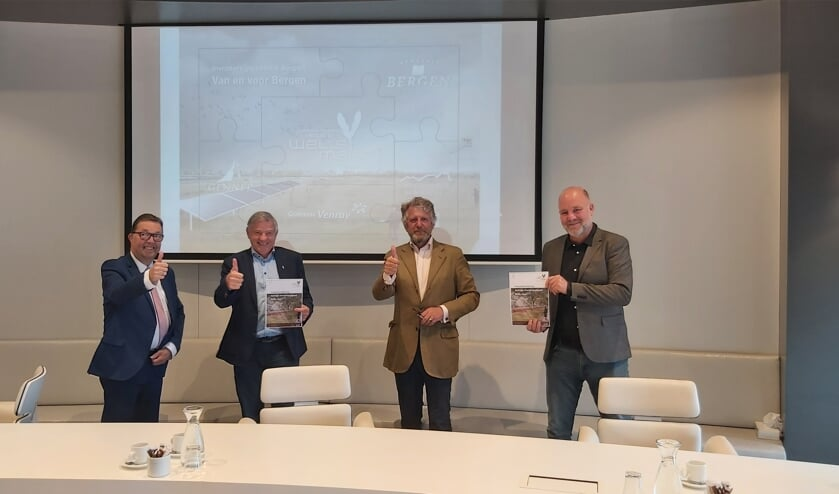 <p><em>Op de foto van links naar rechts: wethouder Cor Vervoort (gemeente Venray), wethouder Rob Peperzak (gemeente Gennep), wethouder Antoon Splinter (gemeente Bergen) en wethouder Pepijn Baneke (gemeente Mook en Middelaar).</em></p>
