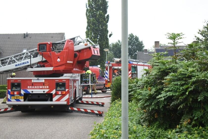 <p>De brandweer rukte met groot materieel uit naar de brand.&nbsp;</p>