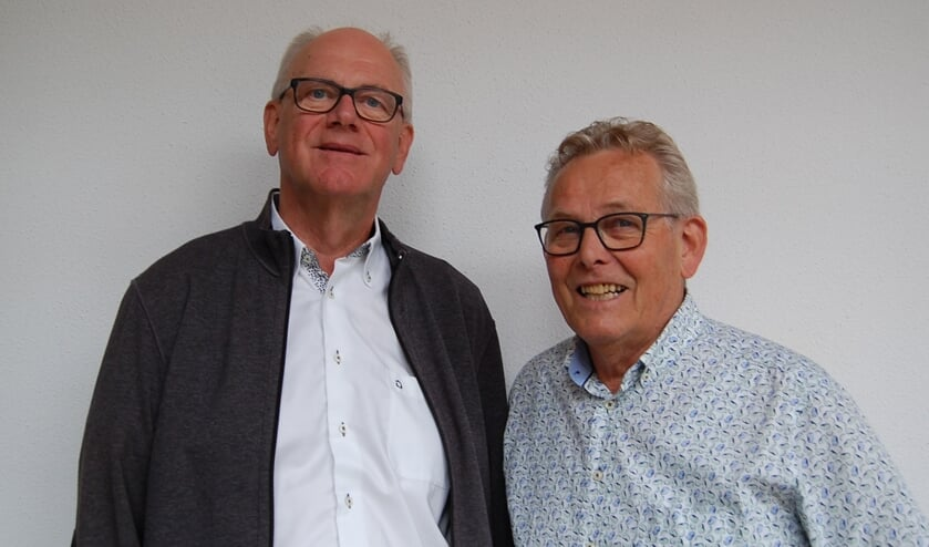 <p>Harrie van den Bergh (links) en Jo van Lieshout.</p>