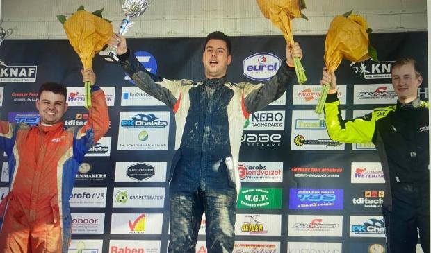 <p>Danny Lauf eerste in de sprint 1600 klasse</p>