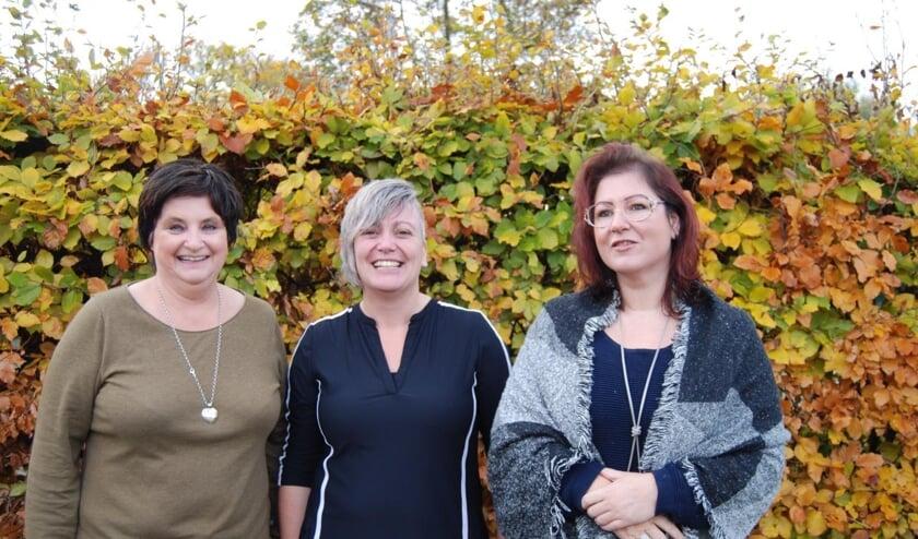 De initiatiefnemers, (v.l.n.r.) Monique Suijker, Corina van Gulik en Jacqueline van Dijk.