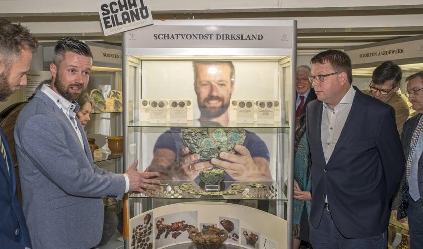 De opening van de expositie 'Schateiland Goeree-Overflakkee'.