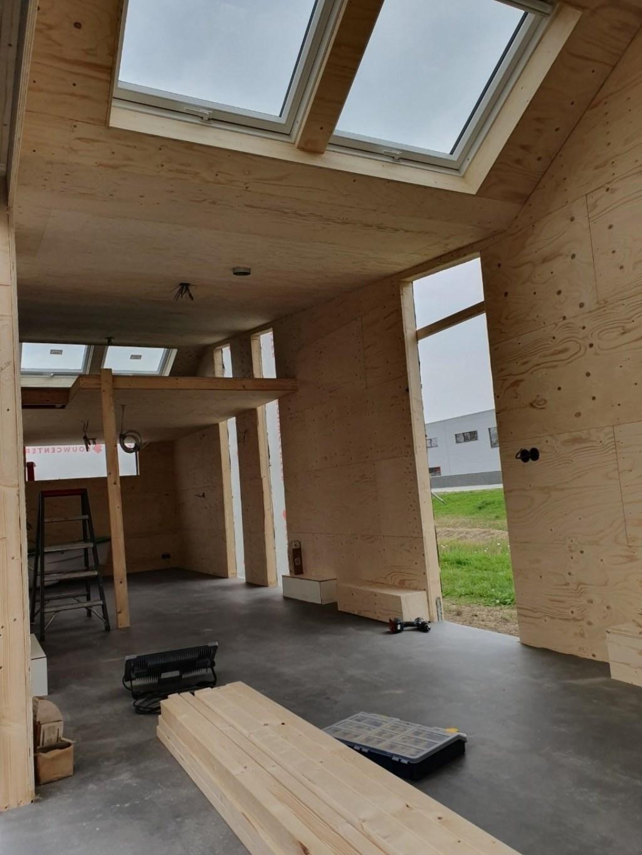 De binnenzijde van ons tiny house op dit moment.  ©