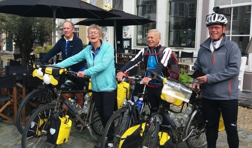 Wim Boerbooms, Aline Huizenga, Hilbert Kikkert en Jan Hamers. Foto Goos K.Kroeze