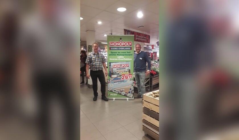 André Slingerland en Maarten Buning zijn trots op hun Monopoly