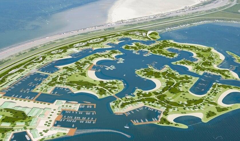 <p>Impressie van het plan Brouwerseiland.</p>