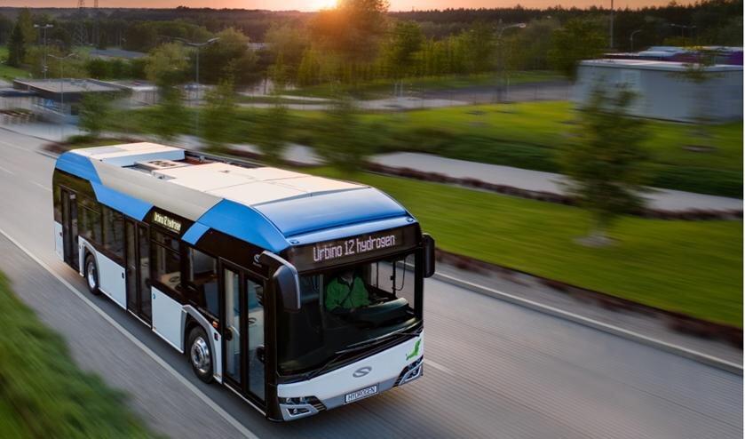 Een waterstofbus Foto: Provincie Zuid-Holland.