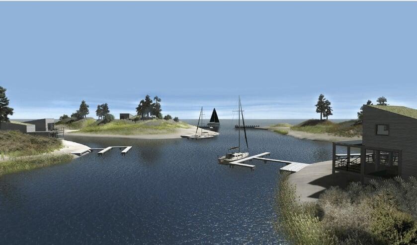 Impressie van een van de eilandjes van Brouwerseiland.