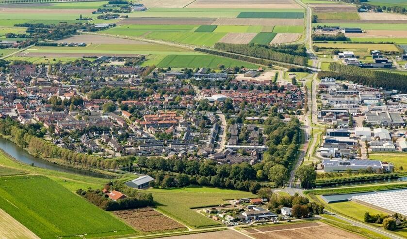 <p>Oude-Tonge was in 2020 de snelste groeier met 219 nieuwe inwoners (Foto: Topview Luchtfotografie).</p>