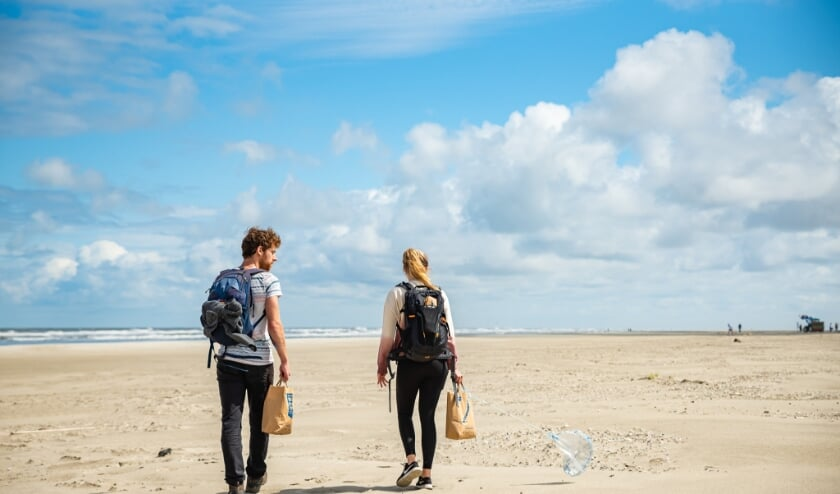 Peuken rapen langs de kust. Foto: Linde van Asperen, Stichting De Noordzee.