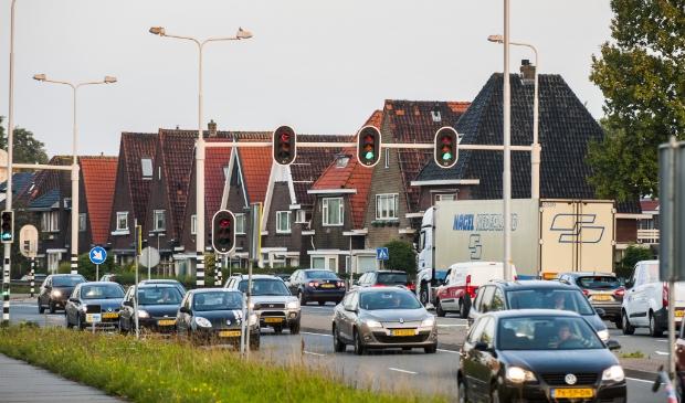 Kruispunt van N203 in Krommenie.