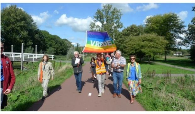 <p>Van jong tot oud kan meelopen met&nbsp; Walk of Peace.</p>