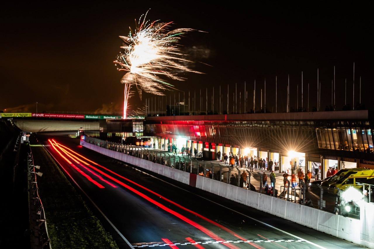 De racebaan bij de nieuwjaarsrace.
