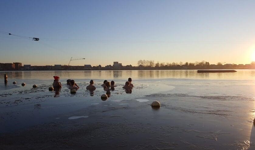 Winterzwemmen in Heerhugowaard.