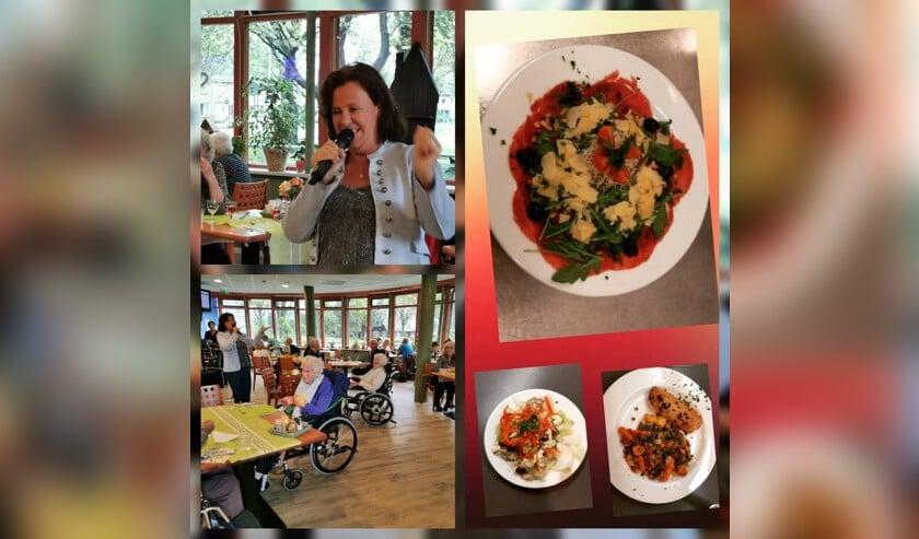 Het was heerlijk genieten voor ouderen in de Brasserie in Waterrijck.