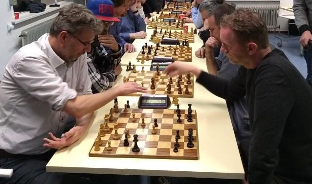 Concentratie tijdens een pot schaken.