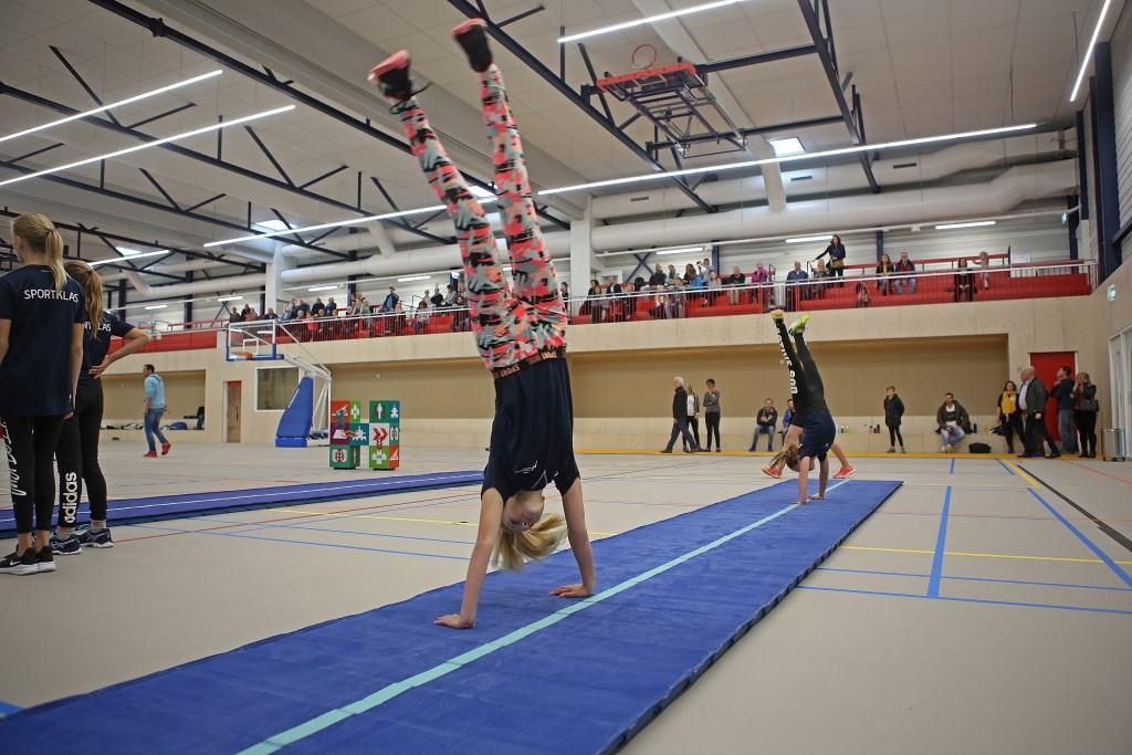 Lenige, acrobatische meiden op de lange mat.  (Foto: Rowin van Diest) © rodi