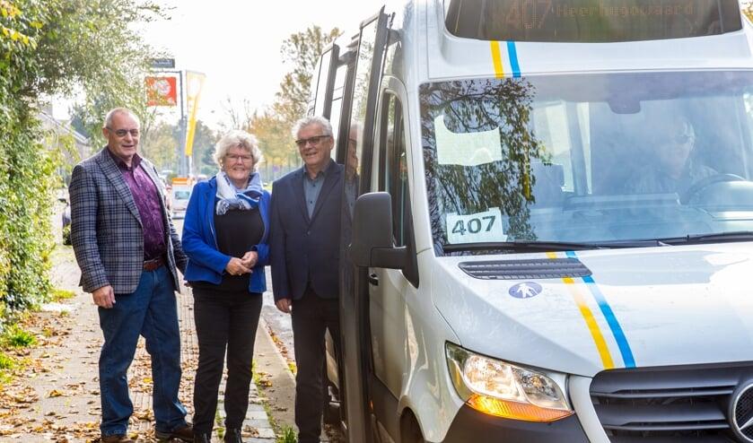 Piet Hoekstra (links), Greet Hartog en André van der Starre.