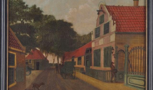 'Het Koggenhuis in Medemblik', geschilderd door Jacob Braaff.