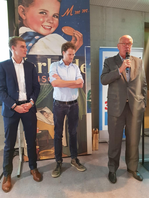 De genomineerden voor de Zaanse Startup Award. v.l.n.r. Daan Horak, Lucien Luijkx en · Ad van Vugt. Jordi Bron ontbreekt vanwege vakantie. (Foto: Dirk Karten) © rodi