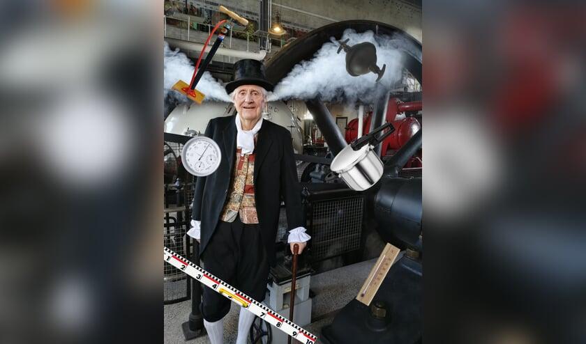 James Watt in het Stoommachinemuseum in Medemblik